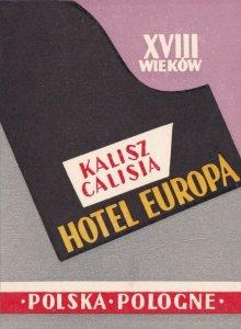 Poland Calisia Hotel Europa Vintage Luggage Label lbl0327