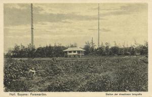 suriname, PARAMARIBO, Wireless Station, Station der Draadloze Telegrafie (1920s)