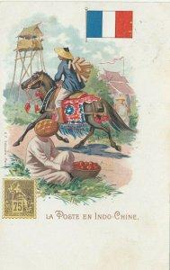 La Poste en Indo-Chine , 1902