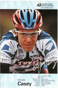 USPS Pro Cycling Card - Dylan Casey - Bike Race Cancel