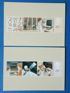 Set of 2 PHQ Stamp Postcard Set No.62 Information Technology Year 1982 BX7