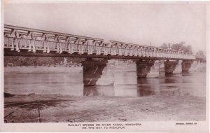 Pakistan Railway Bridge On River Kabul Real Photo Postcard