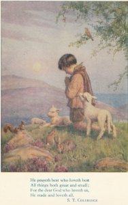 He Prayeth Best by Margaret W. Tarrant, Sheep, Birds, Rabbits & Squirrel
