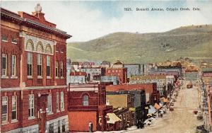 F28/ Cripple Creek Colorado Postcard c1910 Bennett Avenue Stores