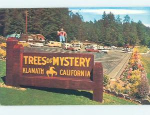 Pre-1980 TREES OF MYSTERY SIGN Klamath Near Crescent City California CA hn1592