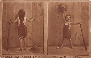 Colonial Art Co. Base Ball Baseball  Post Card Colonial Art Co.