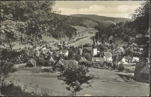 Vintage 1960 Postcard TODTMOOS Waldshut Baden-Württemberg GERMANY