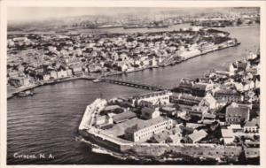 Curacao Birds Eye View Of Willenstad and Harbor Real Photo