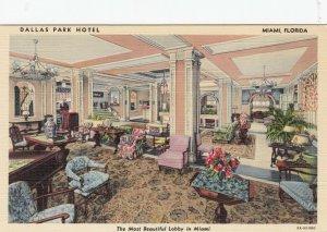 MIAMI , Florida , 1930-40s ; Lobby , Dallas Park Hotel