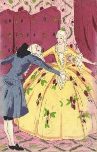 Artist MESCHINI, Romantic Couple (1920s) Chantecler