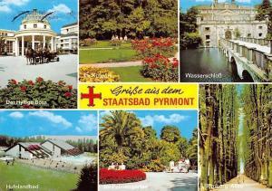 Staatsbad Pyrmont Der Hyllige Born, Hufelanbad, Wasserschloss, Im Kurpark