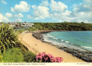 Cornwall Postcard, Castle Beach Pendennis Castle, Falmouth by John Hinde Ltd S76