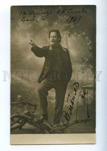 226863 SAMOILOV Russian DRAMA Actor AUTOGRAPH 1909 old PHOTO