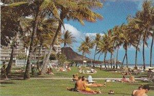 Hawaii Waikiki Beach Fort Derussy At Waikiki Beach