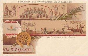 Italy Roma Souvenir Des Vatacombes De St Calliste