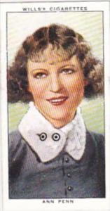 Wills Cigarette Card Radio Celebrities No 35 Ann Penn