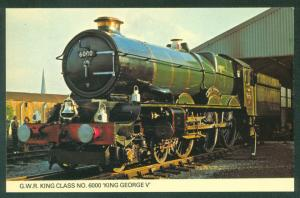 GWR Class KING GEORGE V Train Engine British Hereford England Railroad Postcard