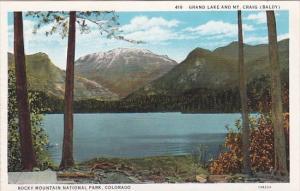 Grand Lake And Mount Craig Rocky Mountain National Park Colorado