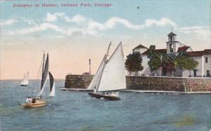 Illinois Chicago Entrance To Harbor Jackson Park 1917