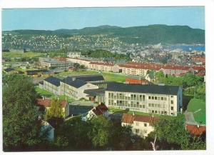 Aerial of University College and Town Trondheim,Norway 1950-70s