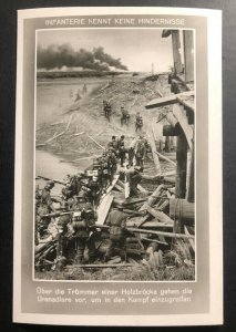 Mint Germany RPPC Postcard The infantry knows no obstacles Wooden Bridge B