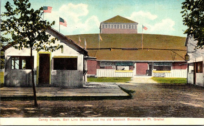 New York Dunkirk Point Gratiot Candy Stands Belt LIne Station and Old Bostock...
