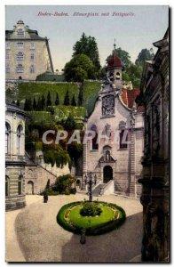 Old Postcard Baden Baden Romerplatz put Fettquelle