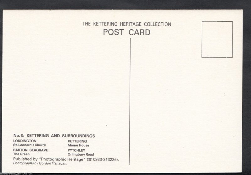 Northamptonshire Postcard - Kettering and Surroundings  CC61