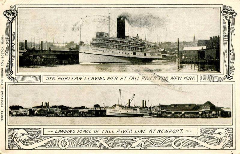 MA - Fall River. Fall River Line, Steamers