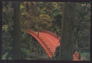 Red Bridge Japanese Oriental Continental JAPAN Postcard Asian