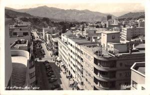 La Paz Bolivia Street Scene Real Photo Antique Postcard J39411