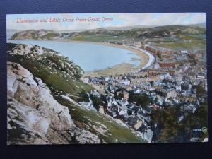 Wales LLANDUDNO The Little Orme from Great Orme c1909 Postcard by Valentine