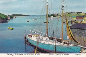 Fishin Schooner, HACKETS COVE, Nova Scotia, Canada, 50-70's