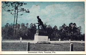 Florida Tavares Soldiers Monument Summerall Park 1928