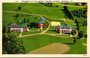 Virginia Abingdon Residence Of The Barter Theatre Players