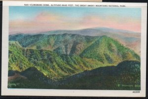 Color PC Clingmans Dome Altitude 6642 Feet Great Smoky Mountains , Unused