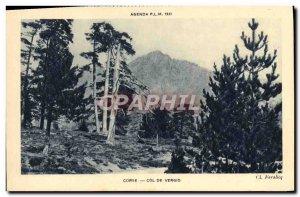 Old Postcard Corsica Col de Vergio Corsica Corsica