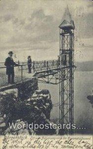 Lift von Felsenwegnach der Hammetschwand Burgenstock Germany 1905
