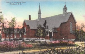 Church of the Sacred Heart, Pinehurst, N.C., Hand Colored Postcard, Unused