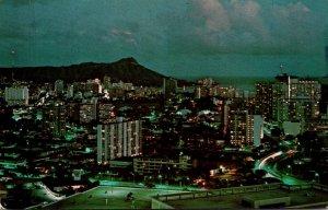 Hawaii Honolulu From The La Ronde Revolving Restaurant
