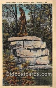 Statue Postcard Louisville, KY, USA Daniel Boone Statue, Cherokee Park
