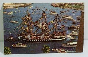 Gasparilla Week Pirates of Mystic Krewe Invade Tampa Florida Ships Boat  474
