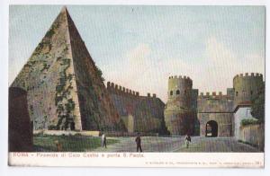 Roma Piramide di Caio Cestio e porta S. Paola Rome Italy UDB