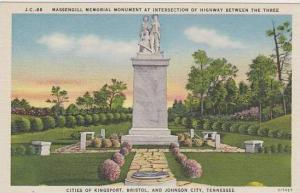 Tennessee Johnson City Massengill Memorial Monument At Intersection Of Highwa...