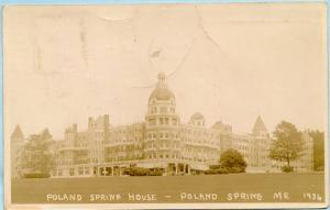 ME - Poland Spring, The Poland Spring House 1936  *RPPC