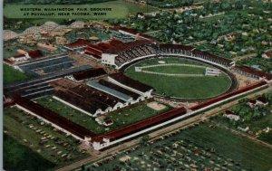 1940s Western Washington Fair Grounds Puyallup Tacoma Washington Linen Postcard