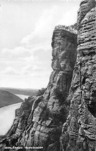 Saechs Schweiz Basteiaussicht River Cliffs Landscape