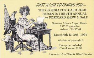 Georgia Postcard Club Postcard Show 1991 Atlanta Georgia