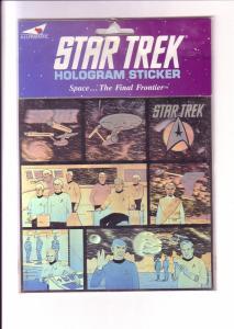 Star Trek Hologram Sticker, 7 Images 1991