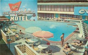 1950s 50th on the Lake Motel Pool Chicago Illinois Freeman Studio 8523
